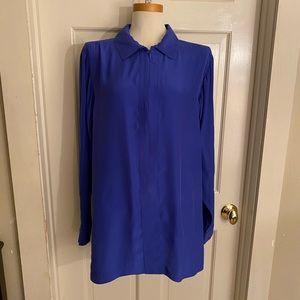 W by Worth Royal Blue Silk Tunic